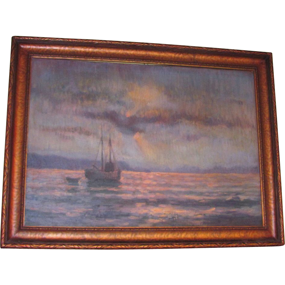 Northwest Impressionist Oil on Canvas Painting Circa 1920