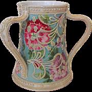 Antique Japanese Moriage 3 Handled Vase Circa 1890 Nippon