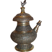 Antique Anglo-Indian Brass Wine Pot 18th Century