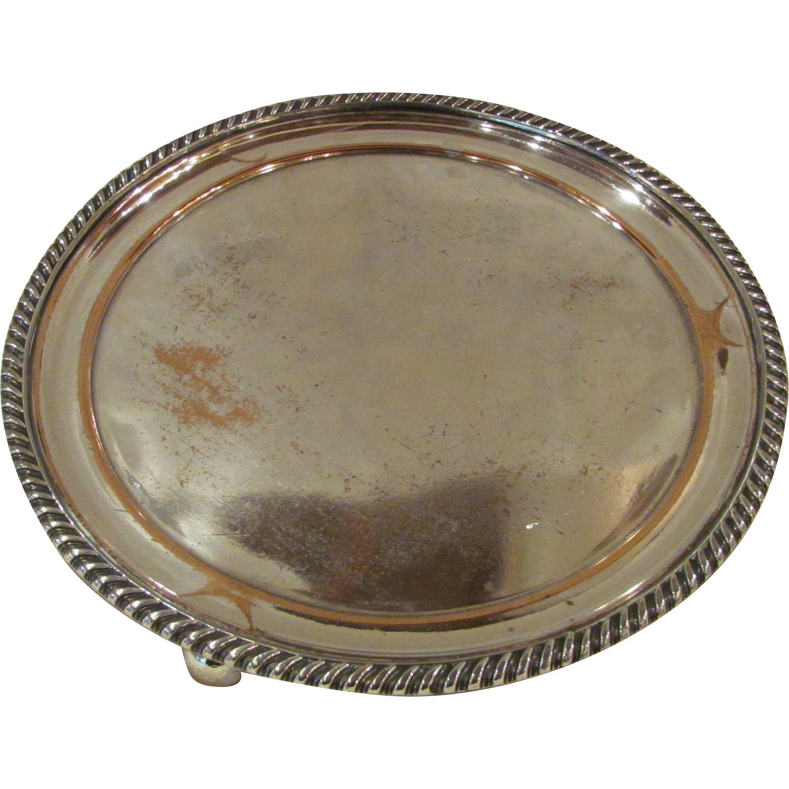Antique Sheffield Plate Silver Salver Circa 1820