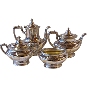 Antique Gorham 4 Piece Silverplate Coffee and Tea Set Circa 1920