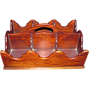 Antique American Mahogany Bottle Caddy Circa 1800