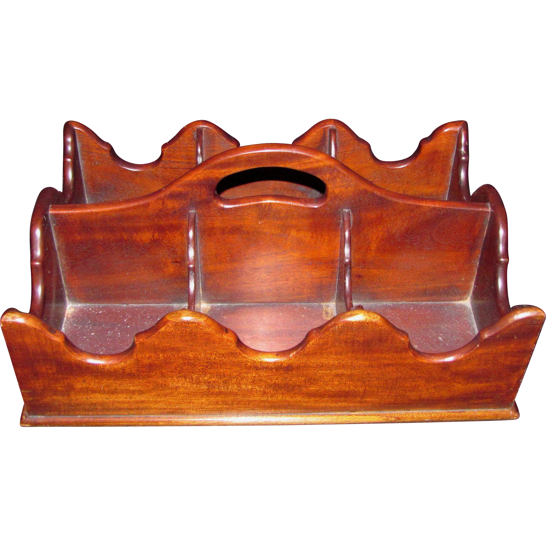 Antique American Mahogany Bottle Caddy Circa 1800