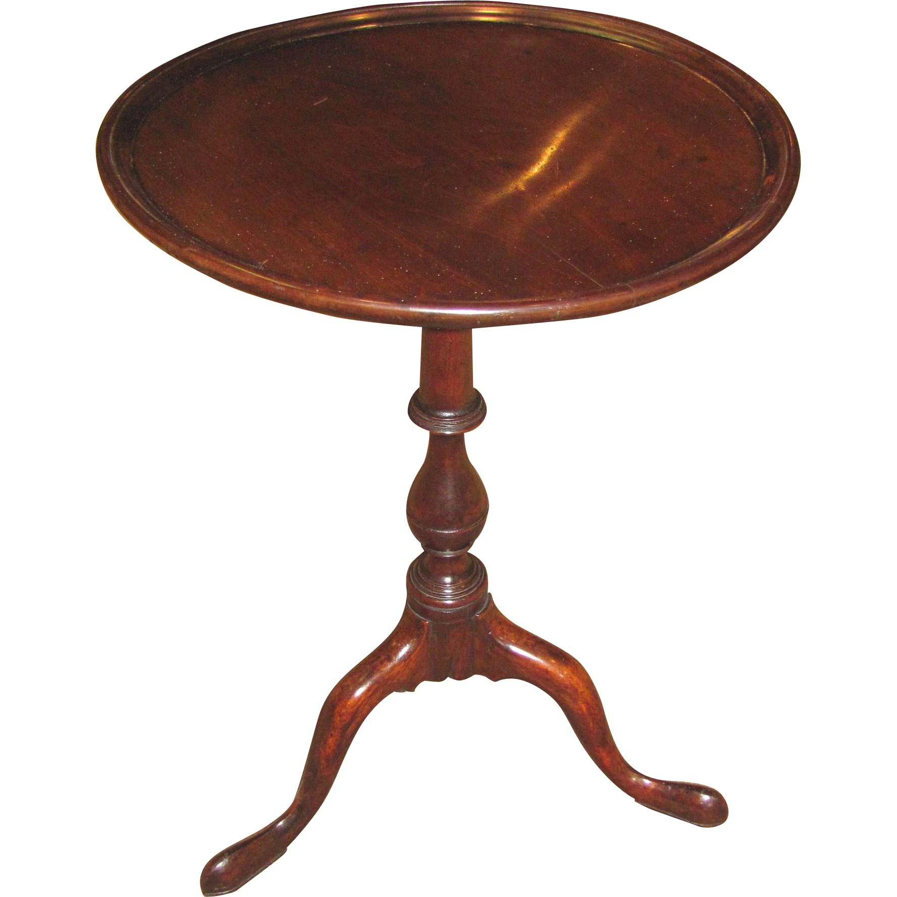 Antique English Georgian Mahogany Candlestand Circa 1810