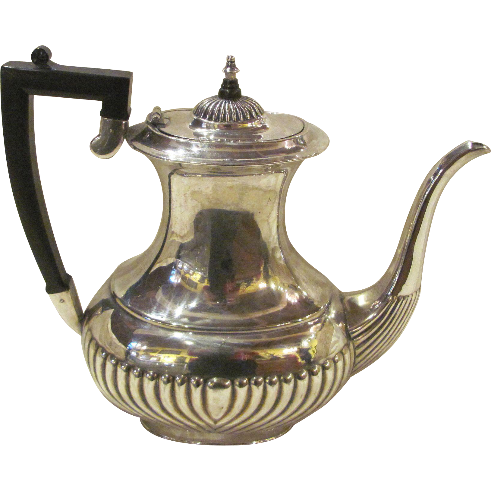 Antique English Silverplate Tea Or Coffee Pot Sheffield