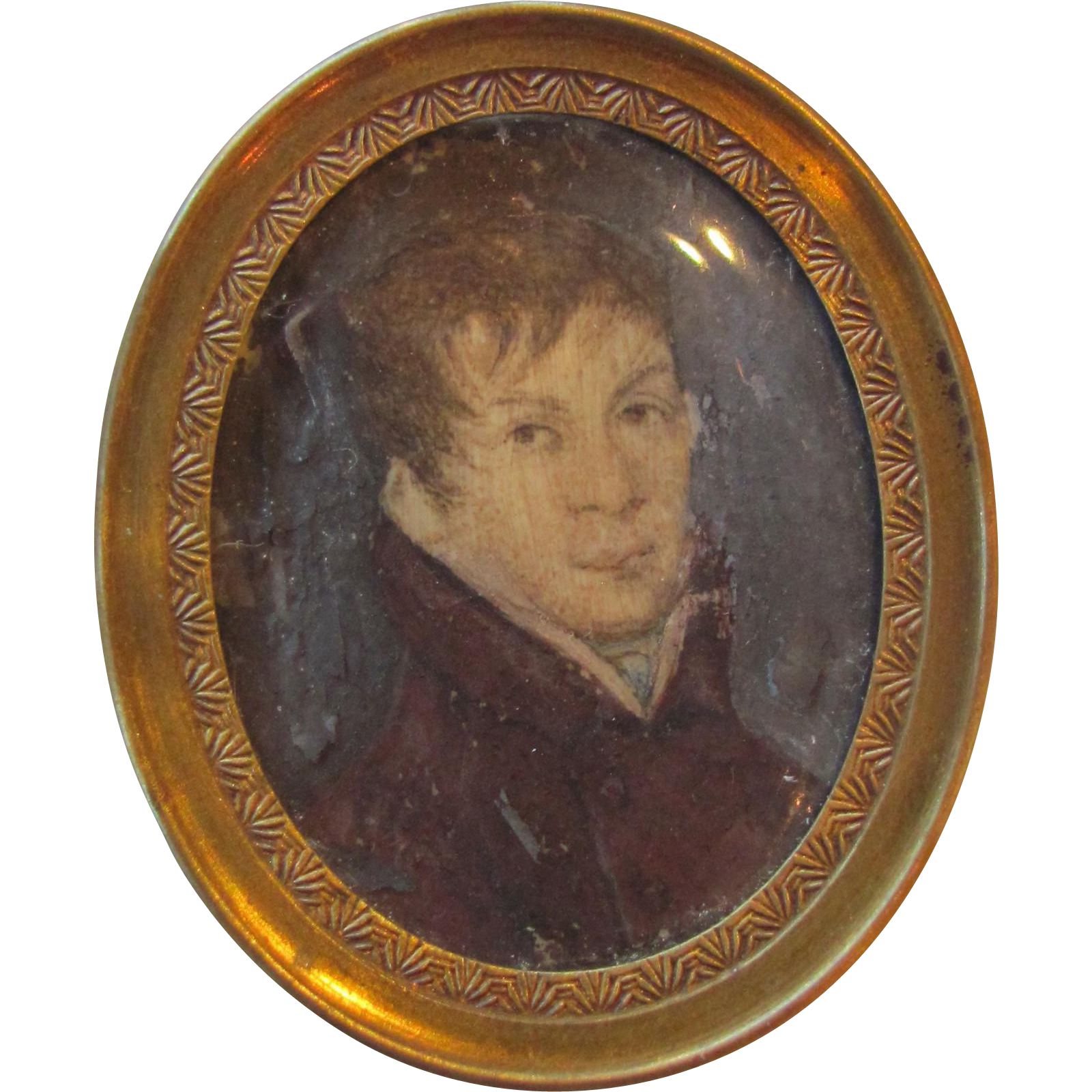 Antique German Portrait Miniature Circa 1810