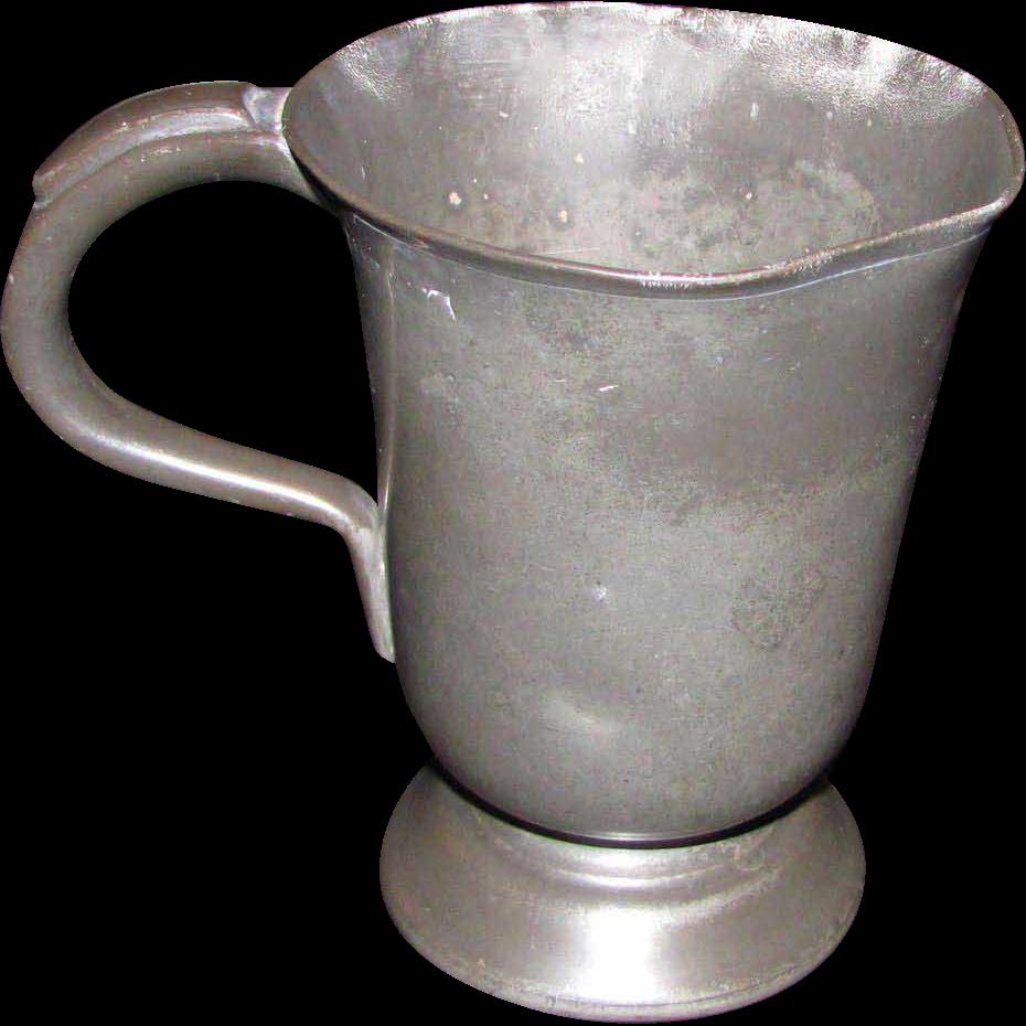 Antique Pewter Mug 19th Century