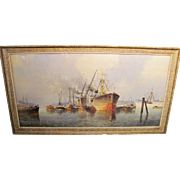 Antique Watercolor Painting Marinus Johannes de Jongere circa 1940