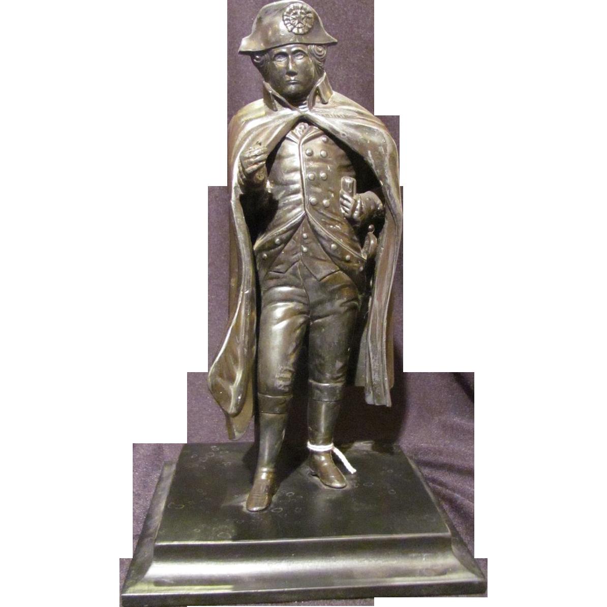 Antique Bronzed Statue Of Napoleon Circa 1900