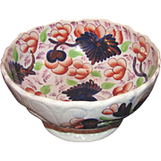 Antique English Gaudy Welsh Serving Bowl Circa 1830 Hand Painted