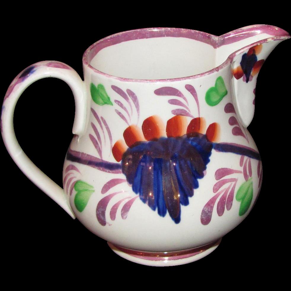 Rare Petrus Regout Gaudy Milk or Cream Jug Circa 1830 Holland