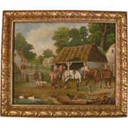 Alfred Green Oil on Canvas Genre Painting Dated 1890