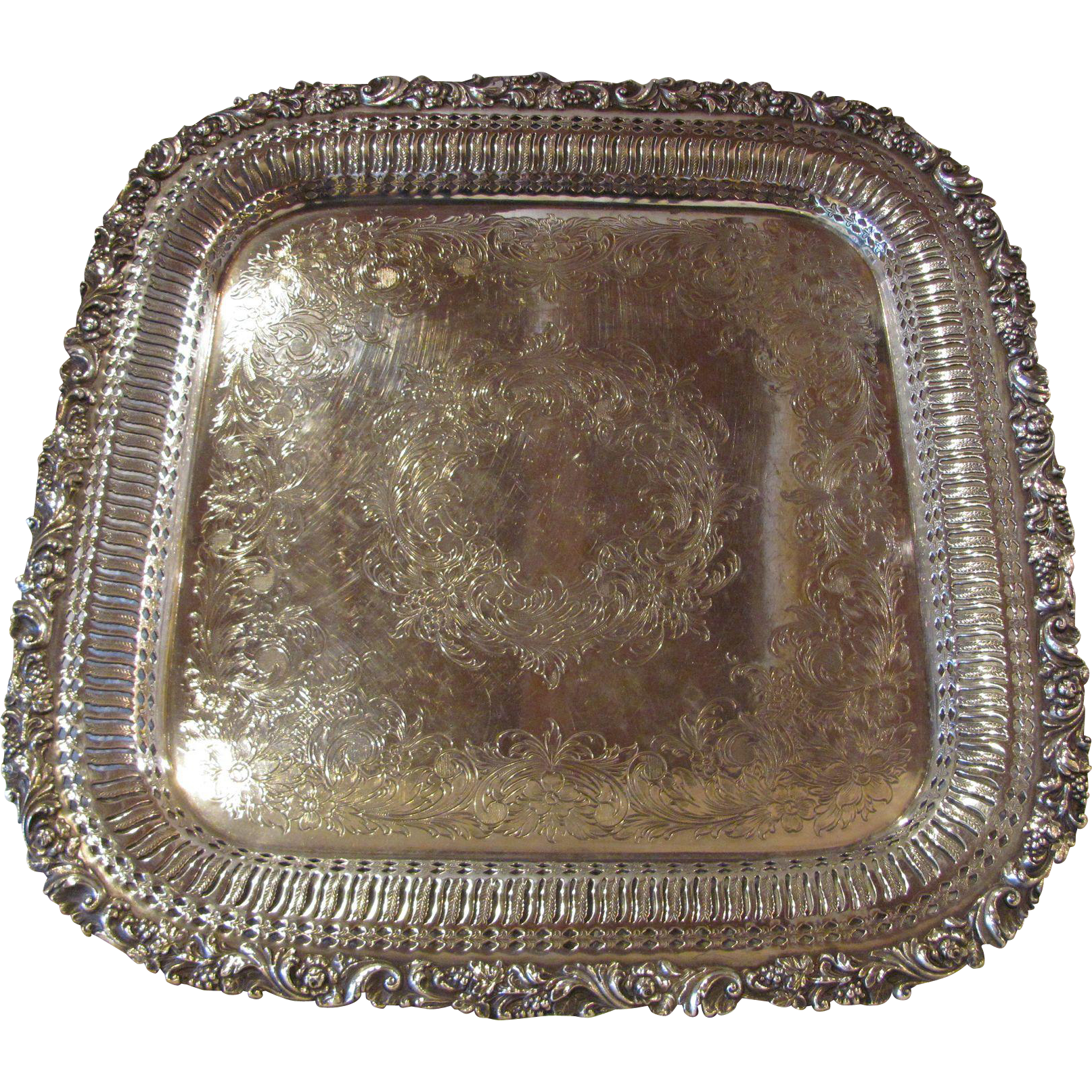 Antique SilverPlate Serving Tray Early 20th Century