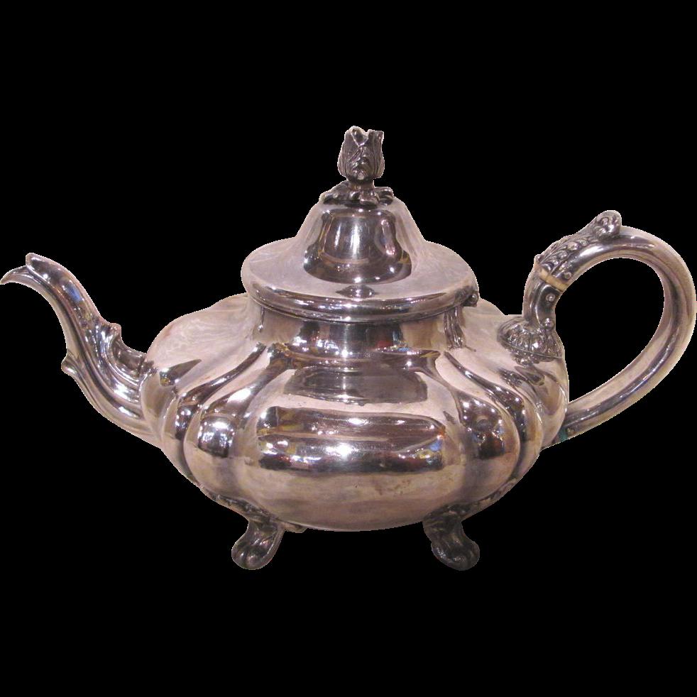 Antique Georgian Sheffield Plate Tea Pot Circa 1825