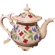 Antique English Staffordshire Teapot Circa 1830