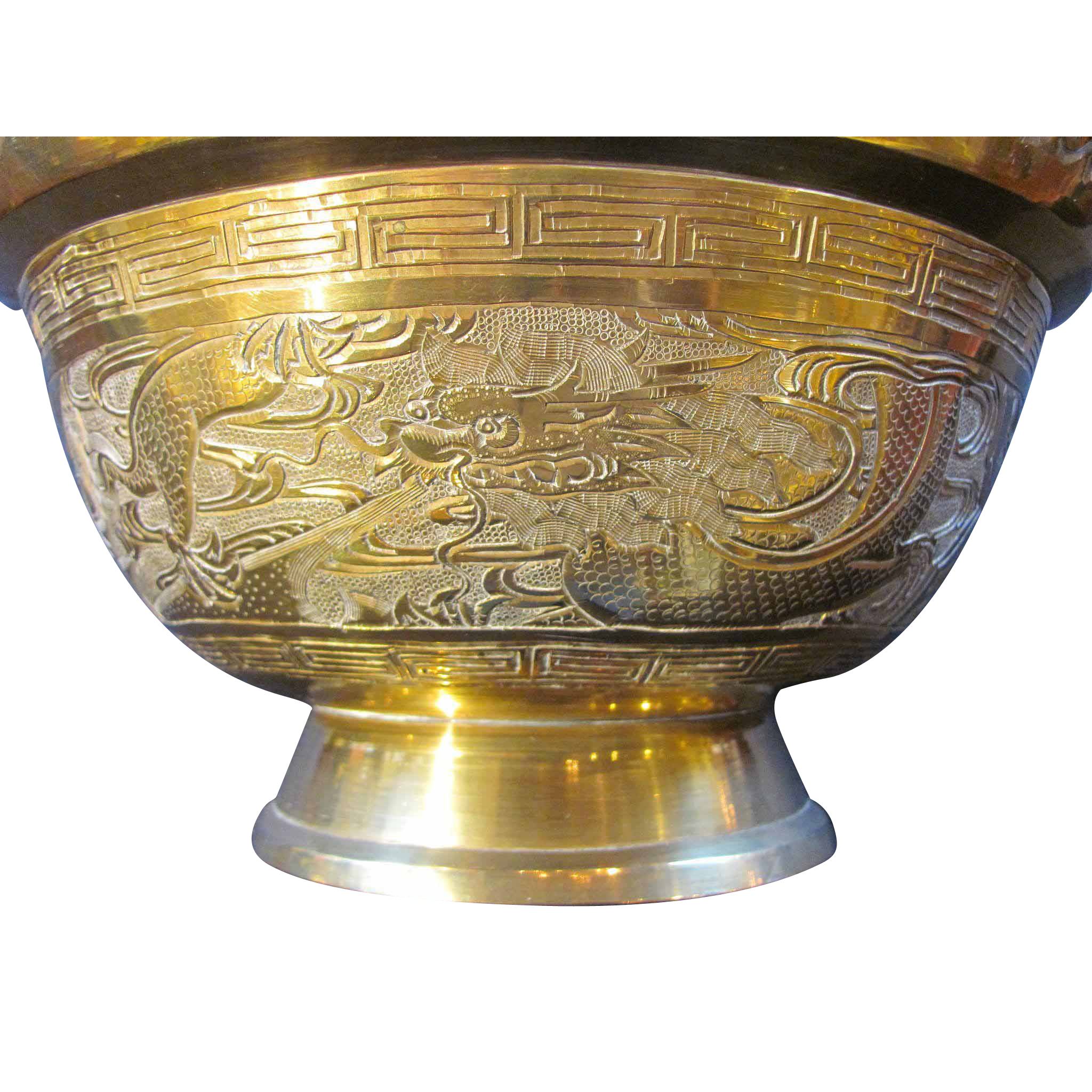 Antique Chinese Decorative Brass Bowl Republic Period