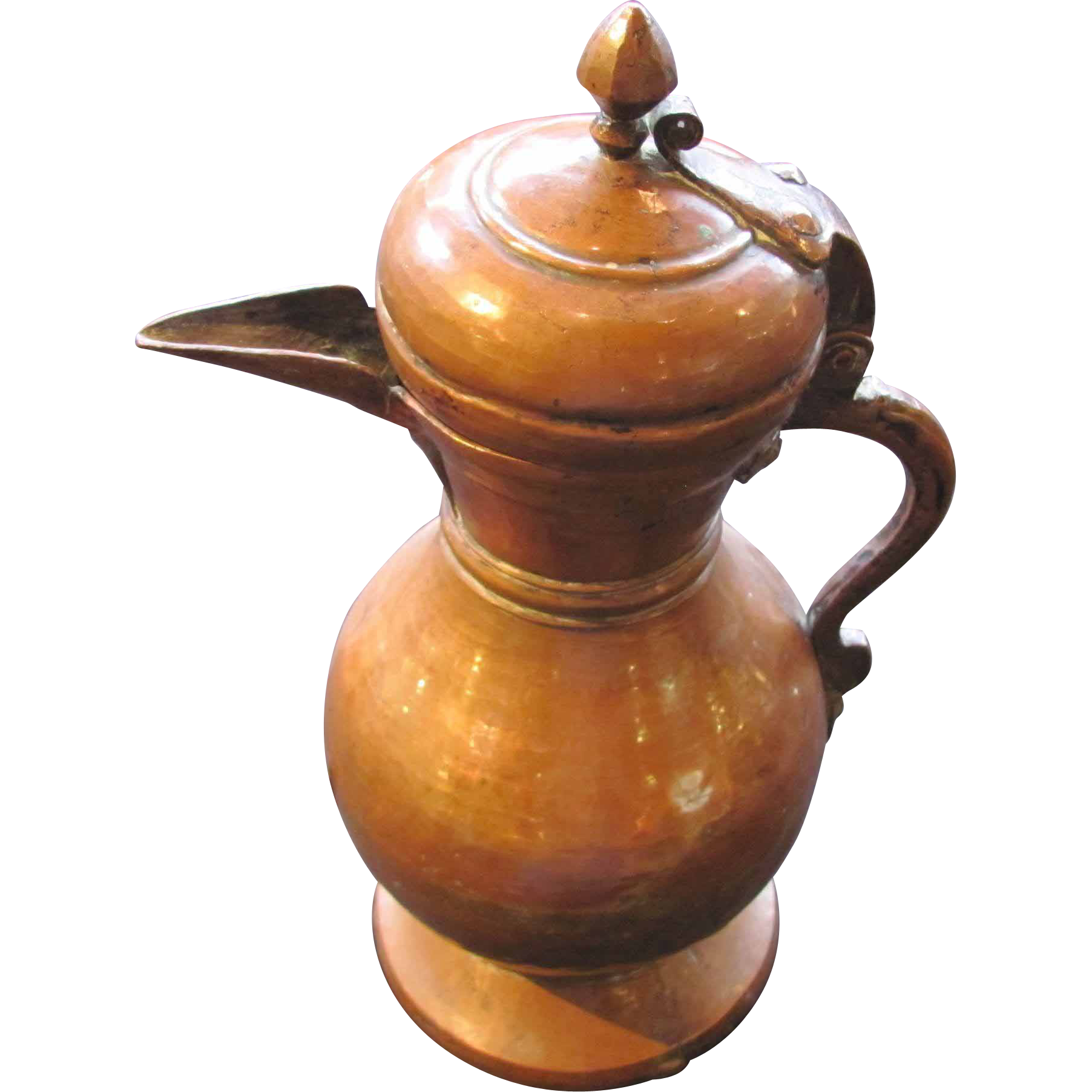 Antique Islamic Copper Coffee or Tea  Pot Late 18th Century