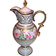 Paris Porcelain Hand Painted Coffee Pot Circa 1900