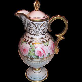 Paris Porcelain Hand Painted Coffee Pot Circa 1900