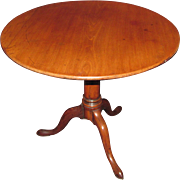 Antique English Mahogany Tea Table Circa 1780
