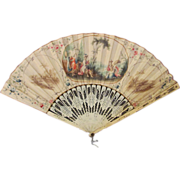 Antique Dutch Hand Painted Fan Circa 1770