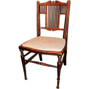 Antique English Georgian Mahogany Child's Chair Circa 1820