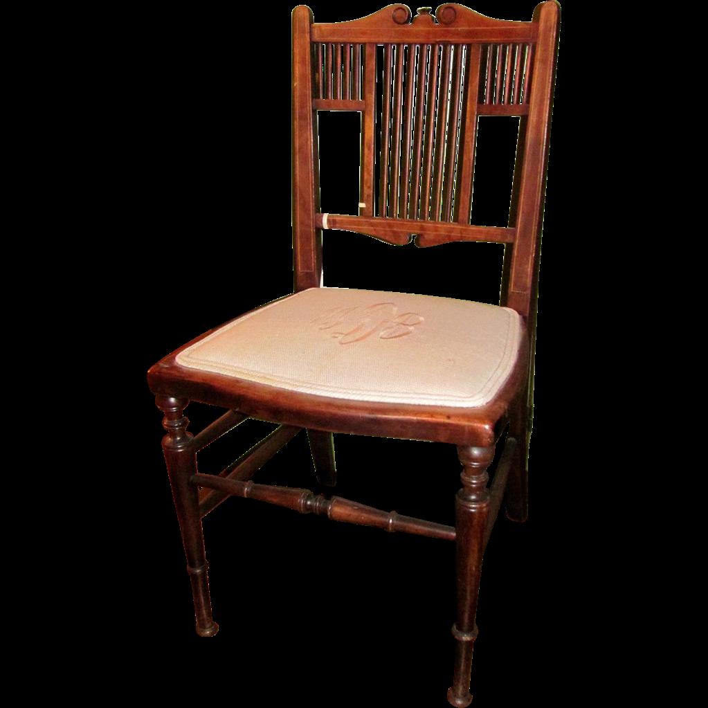 Antique English Georgian Mahogany Child's Chair Circa 1820