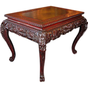 Antique Asian Highly Carved Center Table Circa 1900