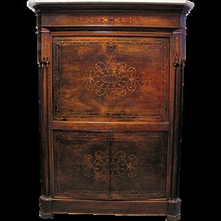 Antique Russian Rosewood Secretaire Abbatant Circa 1825
