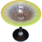 Antique Tiffany Favrile Art Glass Compote Circa 1910
