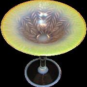 Antique Tiffany Favrile Art Glass Compote Circa 1910