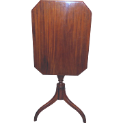 Antique American or English Mahogany Tilt Top Candle Stand Circa 1800