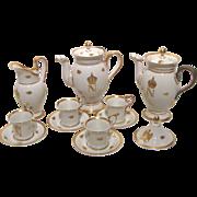 Antique French Napoleonic Paris Porcelain Tea Set Circa 1810