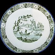 Antique English Transferware Bowl Rare Color Circa 1810