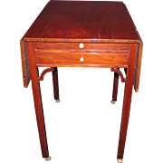 Antique English Chippendale Mahogany Pembroke Table Circa 1770