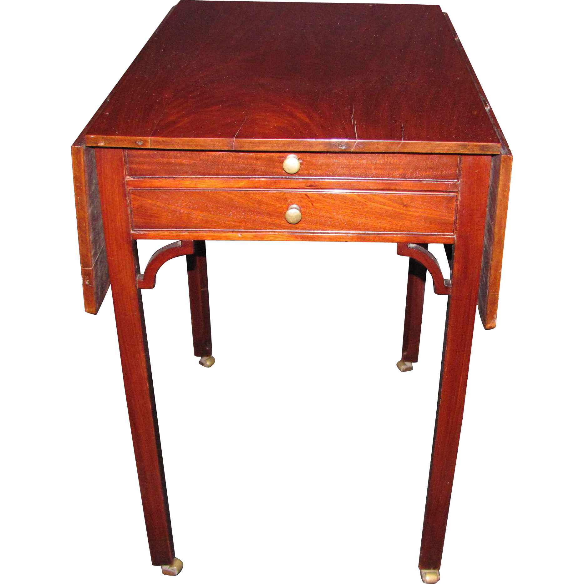 Antique English Chippendale Mahogany Pembroke Table Circa 1770