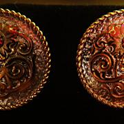 """Earrings Garnet """" Sterling"""" Posts Studs Pierced"""