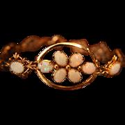 Opal Bracelet Genuine Rolled Gold 1/20 12K Reds