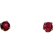 14k Ruby Earrings Rubies