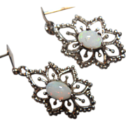 Genuine Opal Earrings Filigree