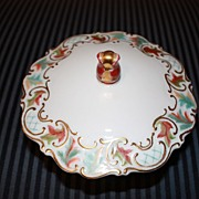 Vintage Jacob Hertel Porcelain China Candy Dish Bowl Centerpiece
