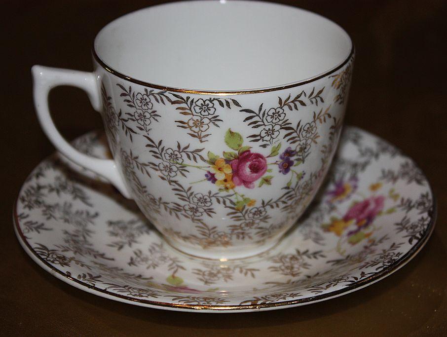 Vintage Regina English China Demitasse Cup Saucer Set