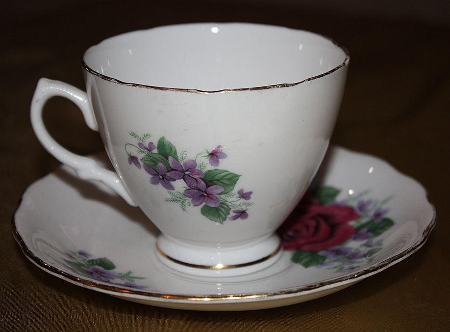 Vintage English China Royal Vale Cup Saucer Demitasse Set
