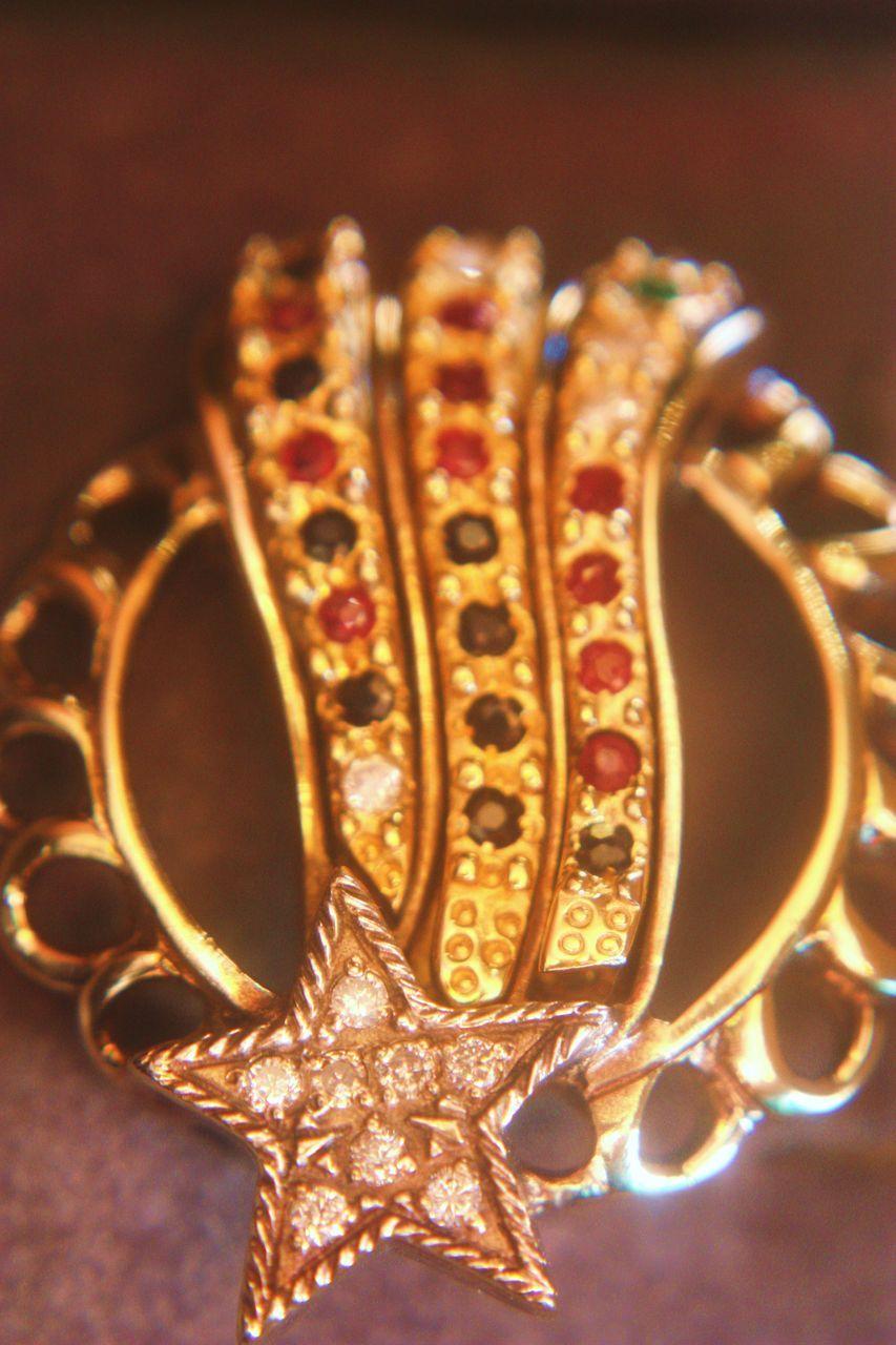 Antique Silver Patriotic Pin Brooch Diamonds Rubies Sapphires
