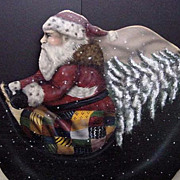 Vintage Christmas Displays Decoration Large St. Nick Reindeer Santa