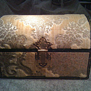 Vintage Tapestry Box Trunk Estate Nice