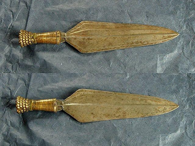 Antique Sword Knife Dagger African Congo Colonial Brass