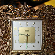Rare Clock Linden Black Forest Alarm German Romantic Ornate