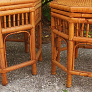 Bamboo Rattan Tables Chinoiserie Chinese Rare Style Brighton Pavilion