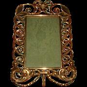 Antique English Brass Ring Frame Rare Design #1